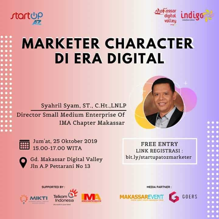 "Menghadiri Event ""Marketer Character in Digital Era"" Bersama Syahril Syam"