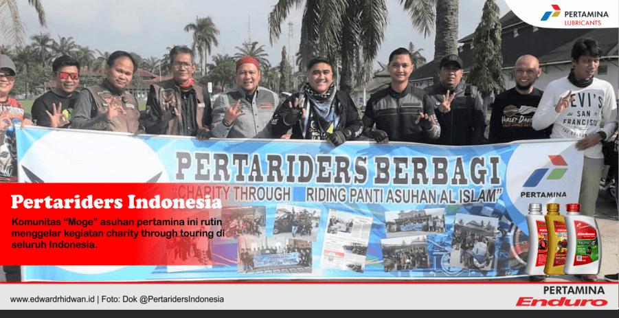 touring sambil berbagi komunitas pertariders indonesia