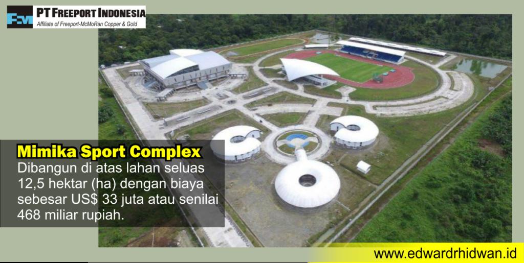 mimika sport complex dibangun freeport