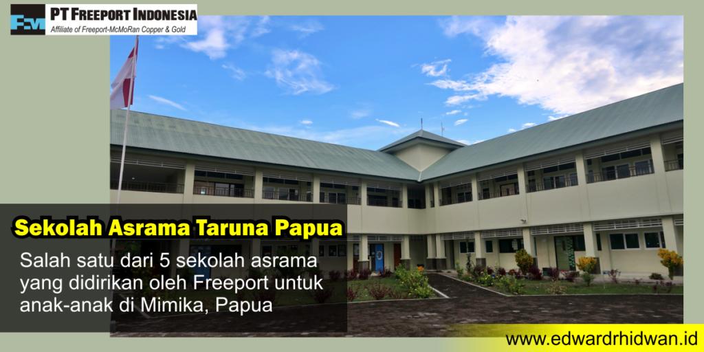 sekolah asrama dibangun oleh freeport