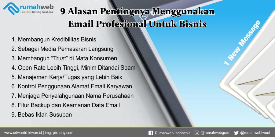 Alasan pentingnya email profesional untuk bisnis