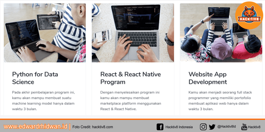 Program belajar di hacktiv8 online program