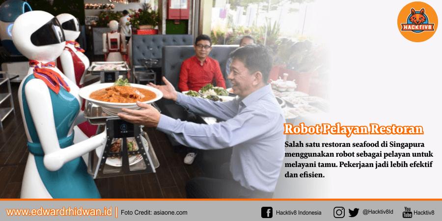 robot pelayan restoran