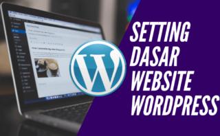 setting dasar website wordrpress