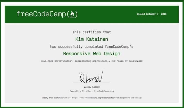 sertifikat internasional free code camp